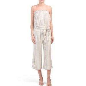 NWOT Cloth & Stone Linen Blend Crop Jumpsuit